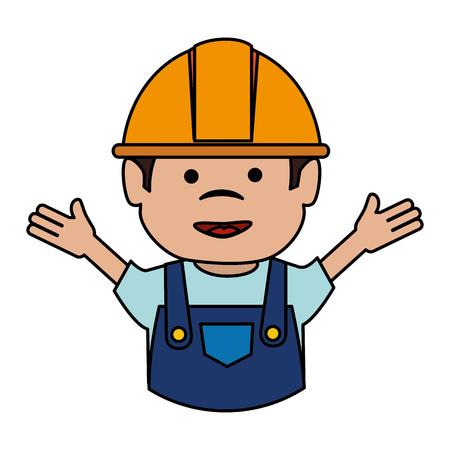 builder avatar character icon vector illustration design Иллюстрация