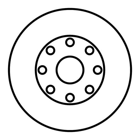 shiny car: tire car isolated icon vector illustration design Illustration