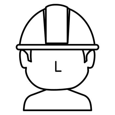 bouwer shirtless avatar karakter icoon vector illustratie ontwerp