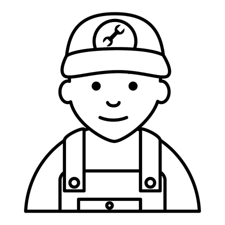 auto repair: mechanic avatar character icon vector illustration design