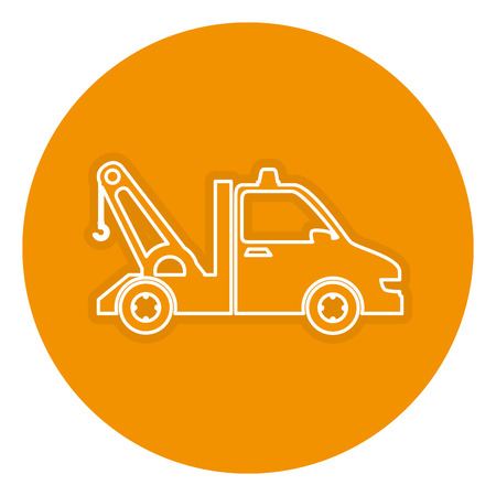 automotive industry: crane truck isolated icon vector illustration design