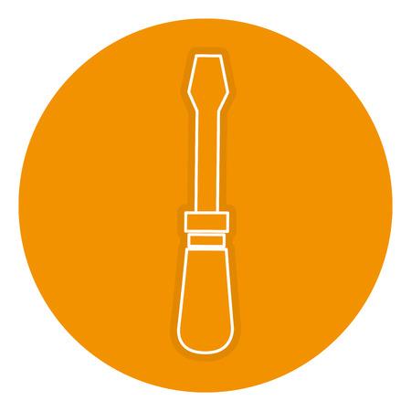 schroevendraaier gereedschap geïsoleerd pictogram vector illustratie ontwerp