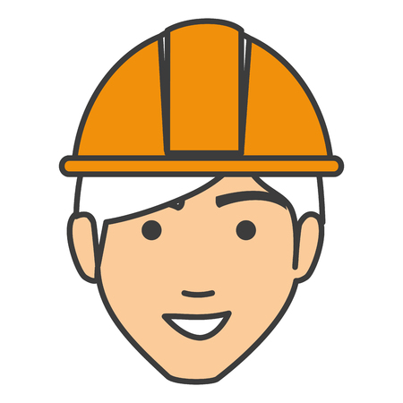 workforce: builder head avatar character icon vector illustration design