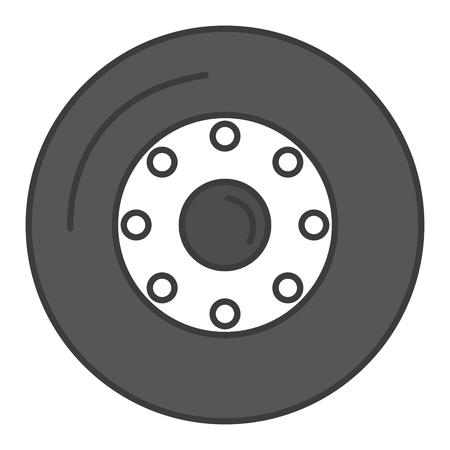tire car isolated icon vector illustration design Ilustração