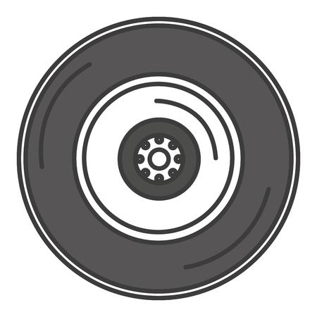 auto repair: tire car isolated icon vector illustration design Illustration
