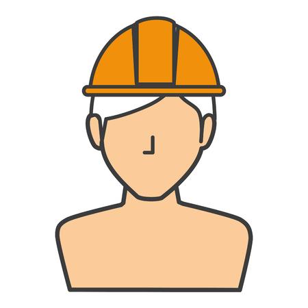 builder shirtless avatar character icon vector illustration design