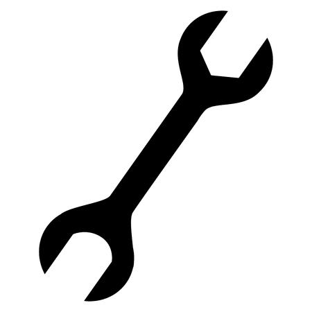 steel industry: wrench tool isolated icon vector illustration design
