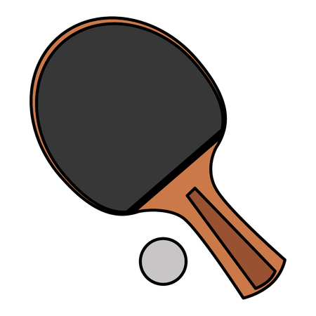 ping pong racket and ball vector illustration design