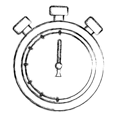 Chronomètre chronomètre isolé icône illustration vectorielle conception Banque d'images - 83799481