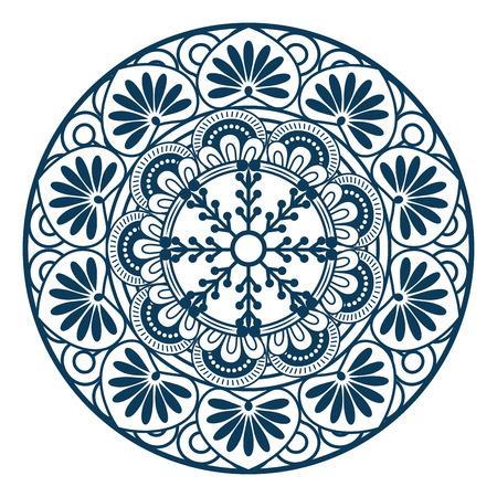 Mandala spiritual symbol vector illustration