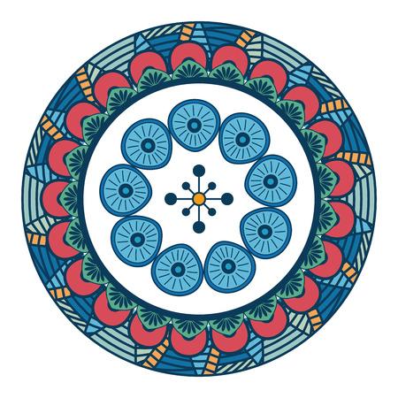 Mandala spiritual symbol l. Ilustrace