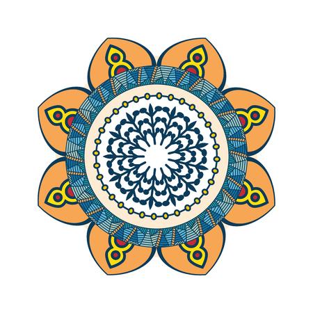 Mandala spiritual symbol Çizim