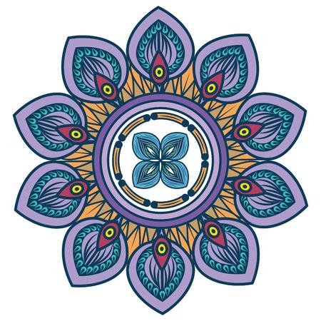 Mandala spiritual symbol Ilustração