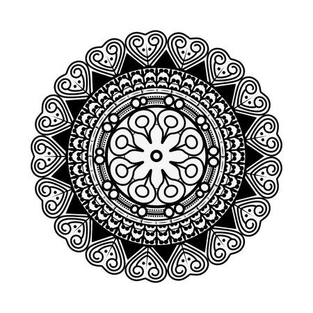 Mandala spiritual symbol Illustration