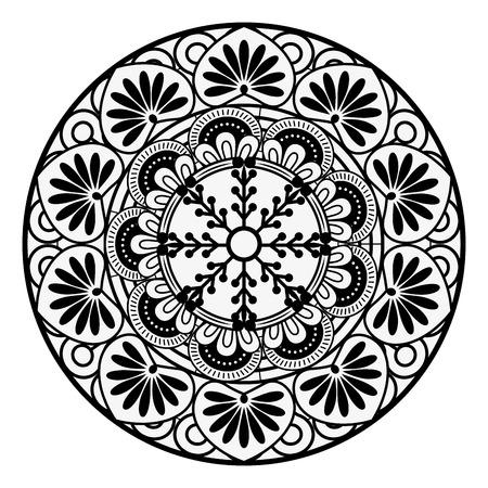Mandala spiritual symbol over white background Ilustrace