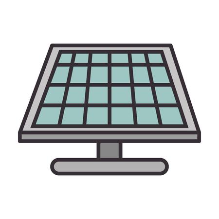 흰색 배경 그래픽 디자인 위에 태양 전지 패널 에너지