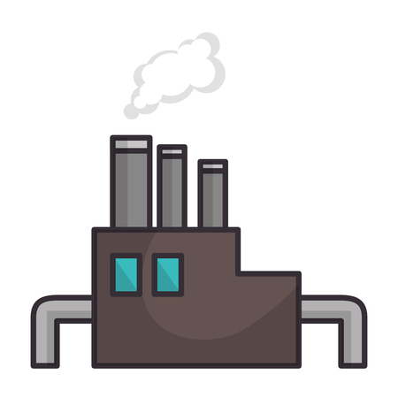 Industrial factory symbol over white background graphic design Illusztráció