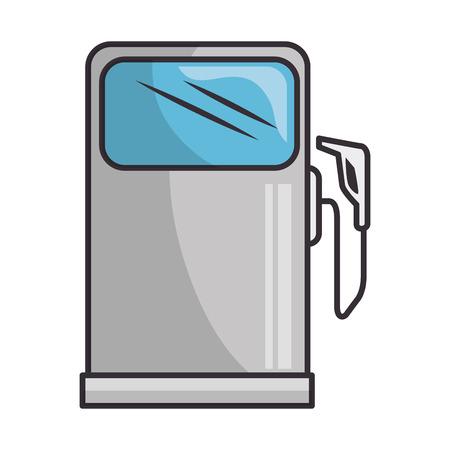 白い背景のグラフィック デザインをガソリン スタンドのシンボル  イラスト・ベクター素材