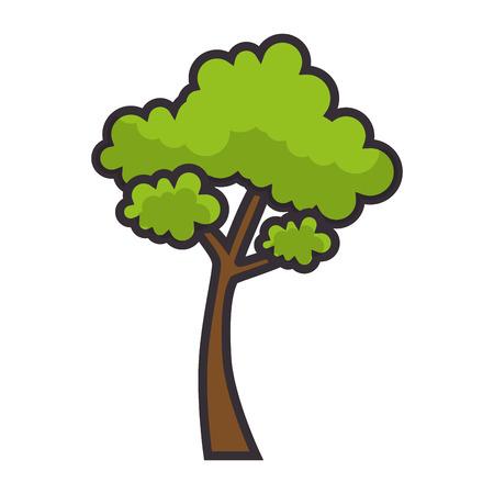 白い背景のグラフィック デザインを木の自然のシンボル  イラスト・ベクター素材