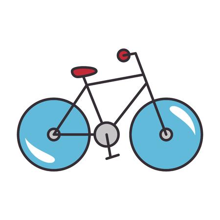Bike sport vehicle over white background graphic design Illustration