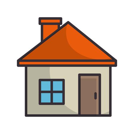 흰색 배경 그래픽 디자인 위에 절연 집 기호 일러스트