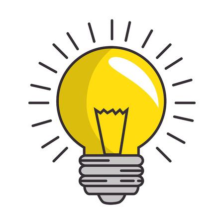흰색 배경 그래픽 디자인 위에 전구 에너지를 조명