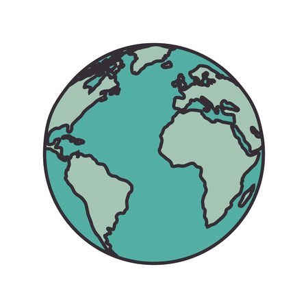 Earth planet icon.