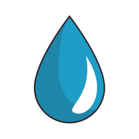 water drop icon over white background vector illustration Illustration