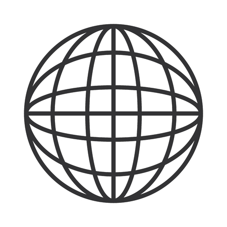 global sphere icon over white background vector illustration Ilustrace