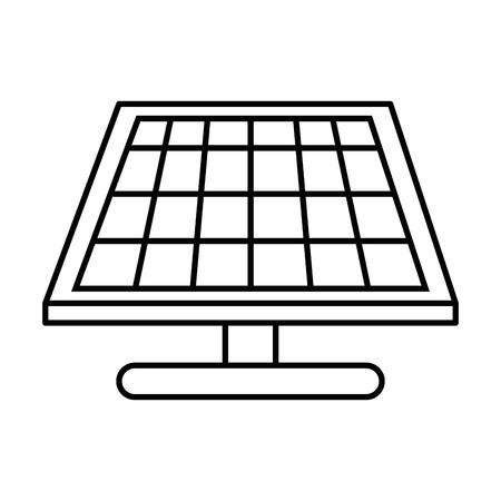 solar panel icon over white background vector illustration Illustration