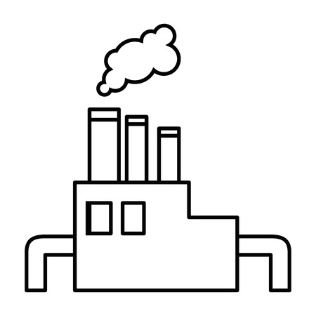 factory icon over white background vector illustration Иллюстрация