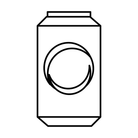 Soda drink can icon over white background vector illustration.