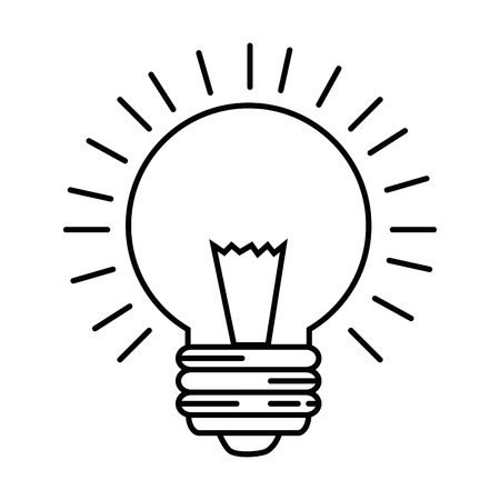 Light bulb icon over white background vector illustration. Imagens - 83808387