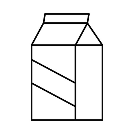 Milk box icon over white background vector illustration. Illustration