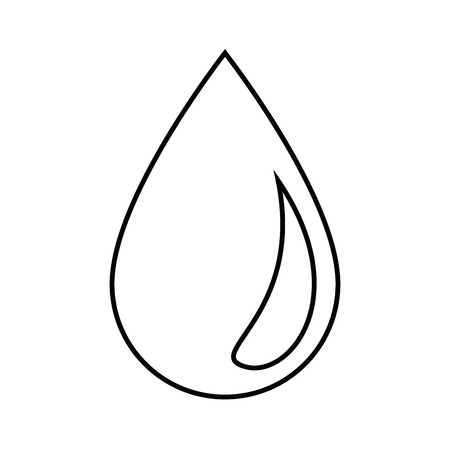 Water drop icon over white background vector illustration. Çizim