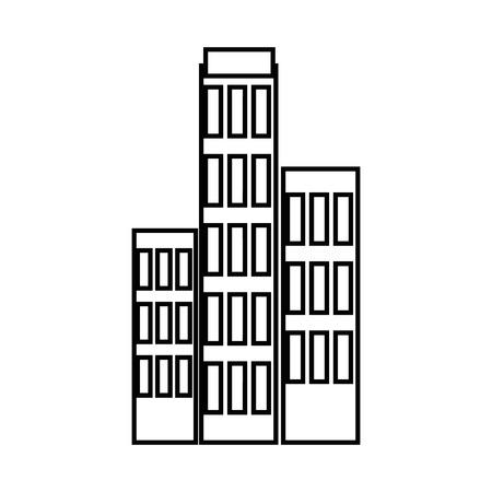 Ville bâtiment icône sur fond blanc. illustration vectorielle Banque d'images - 83808499
