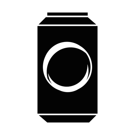 soda drink can icon over white background vector illustration