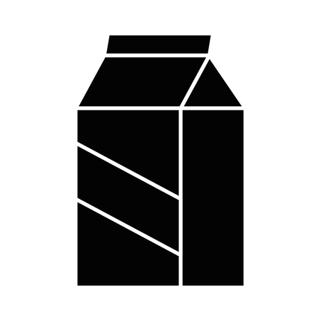 milk box icon over white background vector illustration