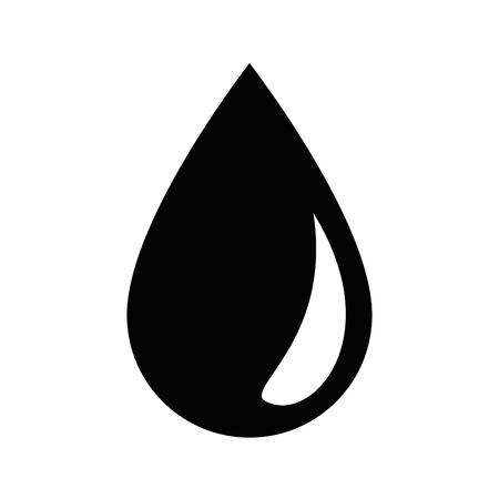 water drop icon over white background vector illustration Illusztráció