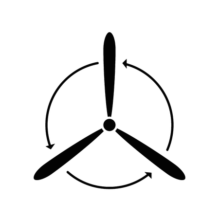 Fan-Symbol auf weißem Hintergrund Vektor-Illustration Standard-Bild - 83807972