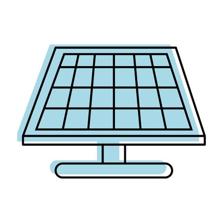 solar panel icon over white background vector illustration Ilustração