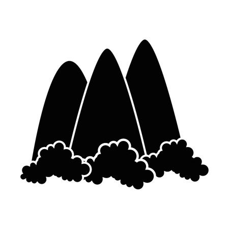 mountains icon over white background vector illustration Ilustração