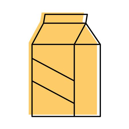 Milk box isolated over white background graphic design