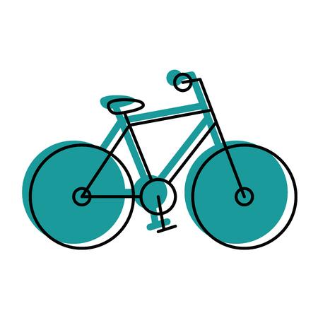 흰색 배경 위에 자전거 운송 차량 벡터