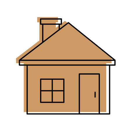 House real estate over white background vector