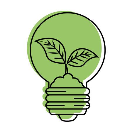 電球は白い背景のベクトル図をアイコンを葉します。  イラスト・ベクター素材