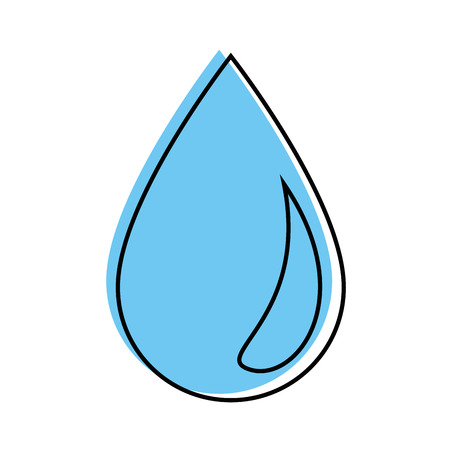 Water drop symbol over white background vector