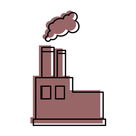 Fabrik-Symbol auf weißem Hintergrund Vektor-Illustration Standard-Bild - 83814969