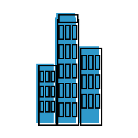 City building icon over white background vector illustration Ilustrace