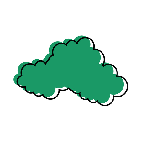 Cloud weather symbol over white background graphic design Stok Fotoğraf - 83815078